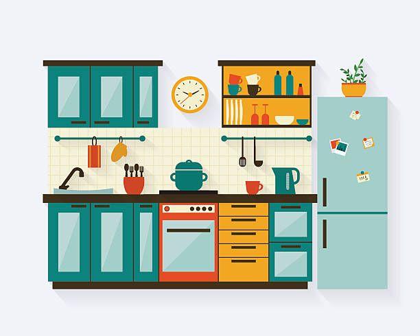 kitchen room clipart 1.
