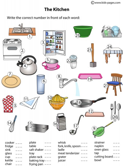 Lots of worksheets for common objects/ categories (colors, shapes.