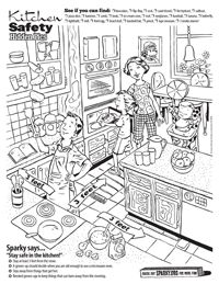 Kitchen Safety Worksheets.