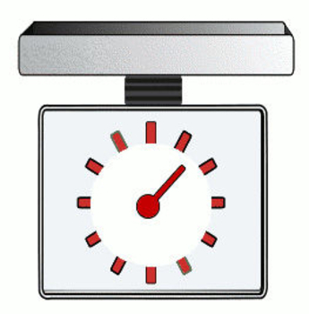 Clip Art Picture of a Kitchen Scale.