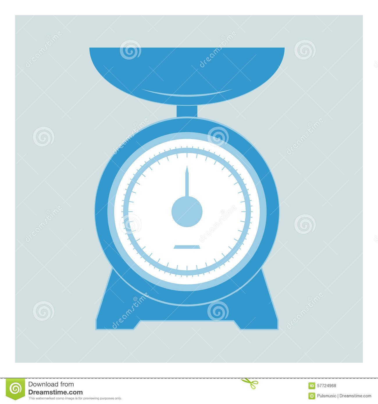 Kitchen Scales Stock Vector.