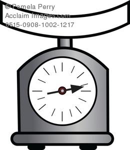 Clip Art Illustration of a Kitchen Scale.