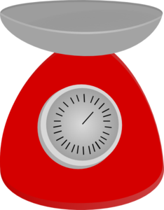 Kitchen scales clipart.