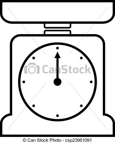 EPS Vectors of Kitchen scales icon on white background. Vector.