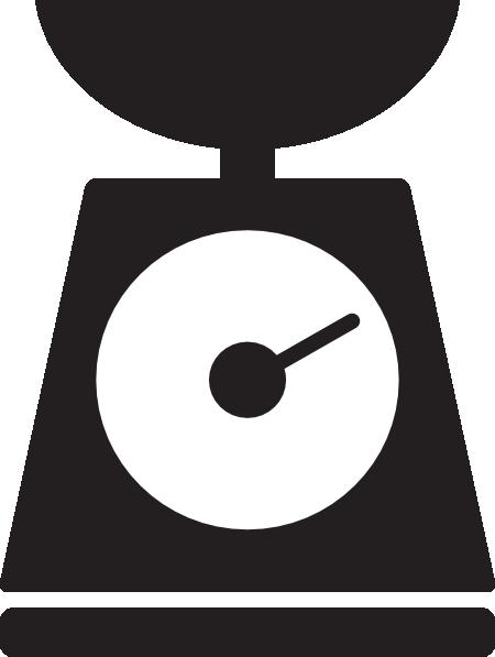 Kitchen Scale Clipart.