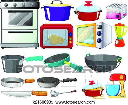 Kitchen set Clipart.