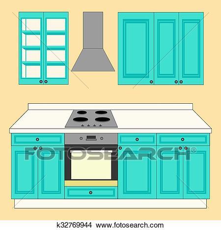 Kitchen Set icon Clipart.
