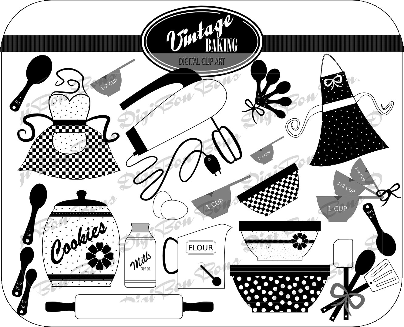 kitchen : Fancy Cooking Spoon Clipart.