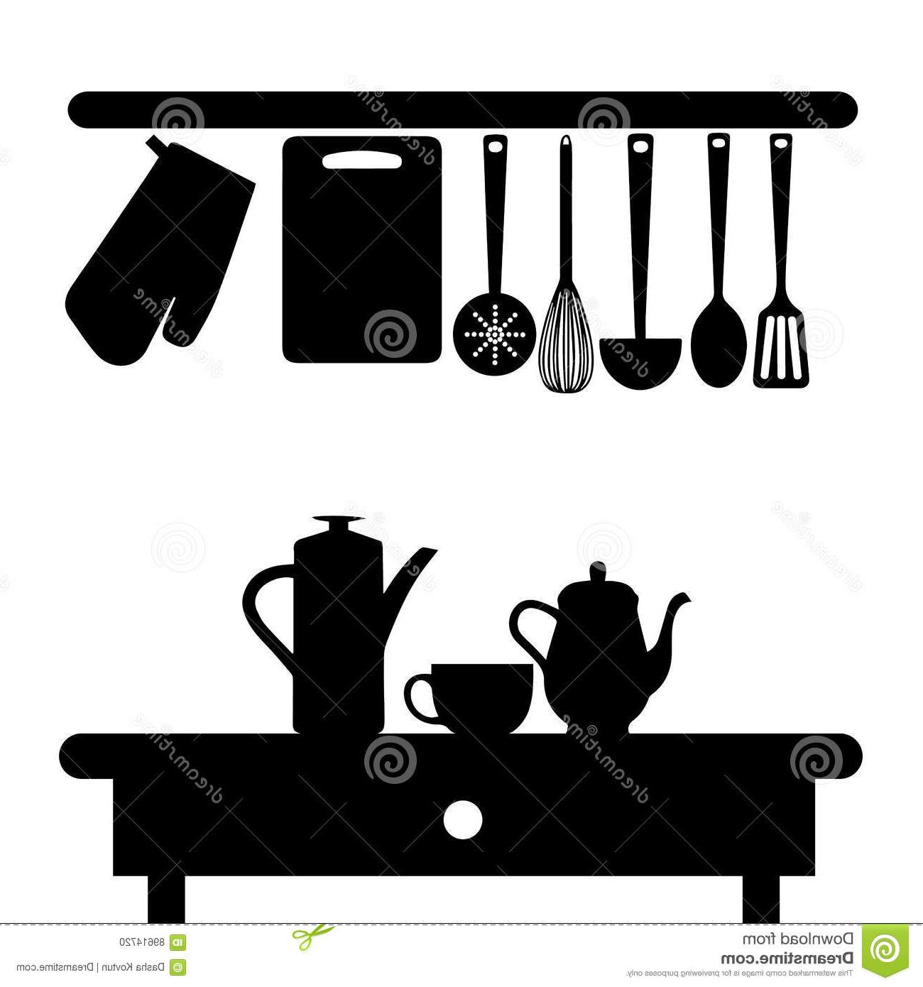 Best HD Kitchen Silhouette Pictures » Free Vector Art.