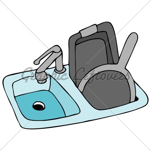 Kitchen Sink Counter Clipart