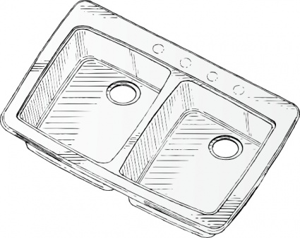 Free Kitchen Sink Clipart Black And White, Download Free.