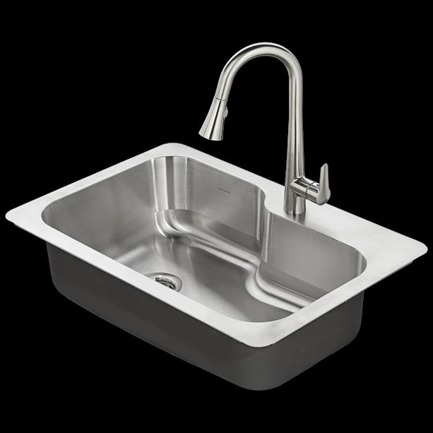 Raleigh 33x22 Stainless Steel Kitchen Sink Kit.