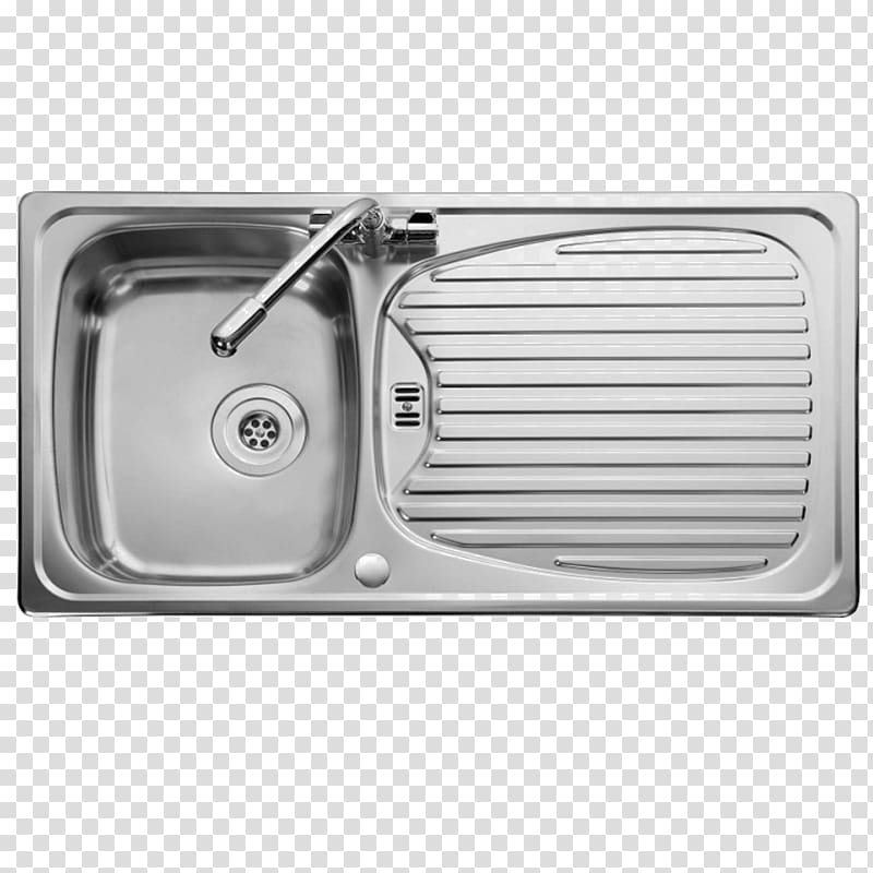 Kitchen sink Top View Faucet Handles & Controls Stainless steel.