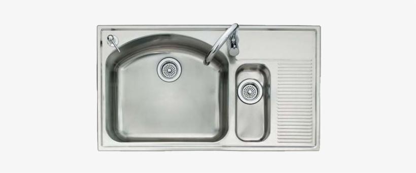 Stainless Steel Kitchen Sink Png Image Background.