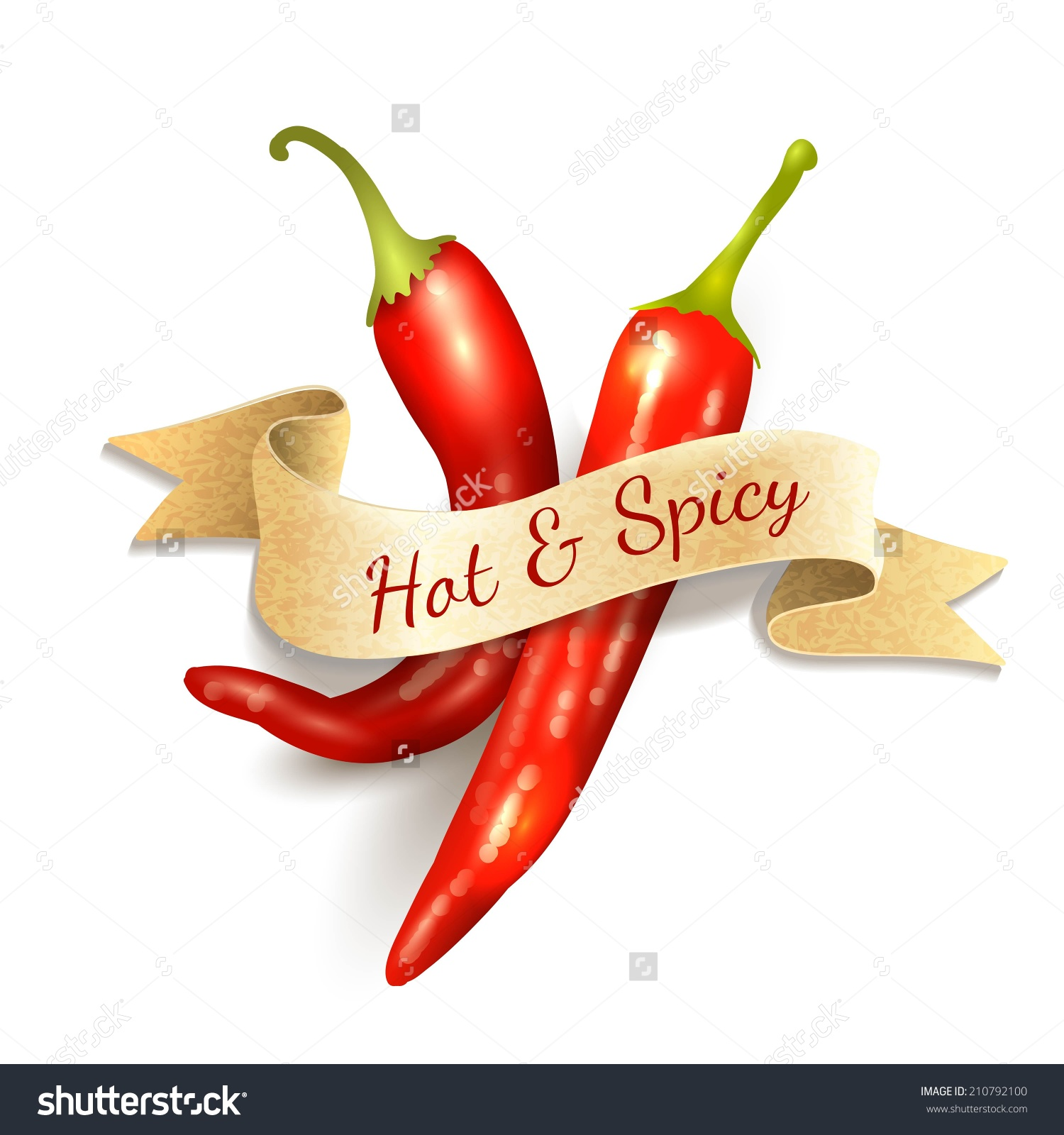 Red Chili Pepper Hot Spice Kitchen Stock Vector 210792100.