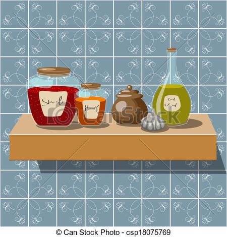 Clip Art Vector of Kitchen.
