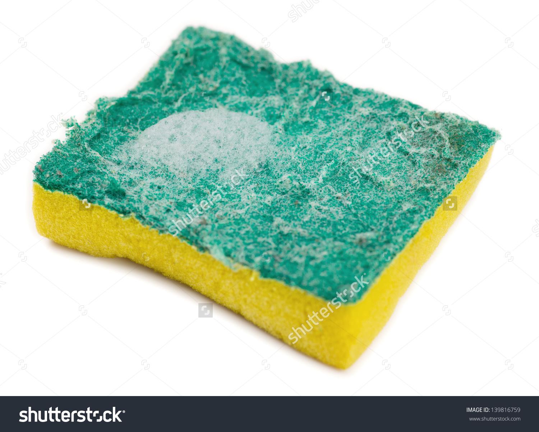 Dirty Green Yellow Kitchen Sponge Soap Stock Photo 139816759.