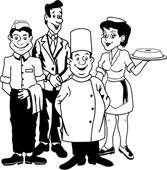 Restaurant Staff Clipart.