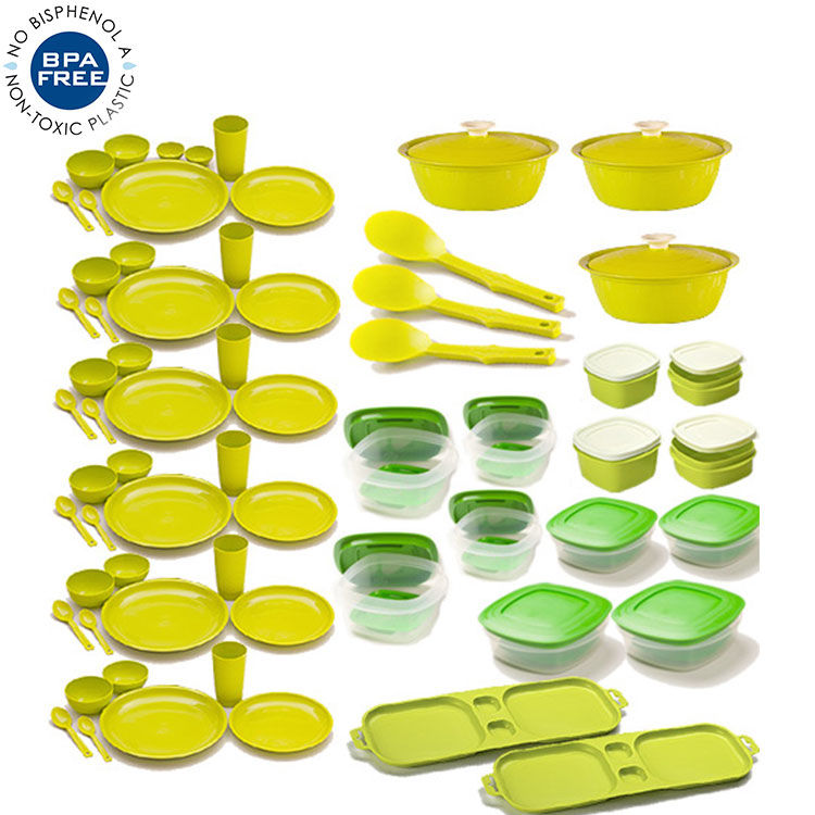 Buy Combo of Cutting Edge 69 Pcs Complete kitchen Set Dry Storage.