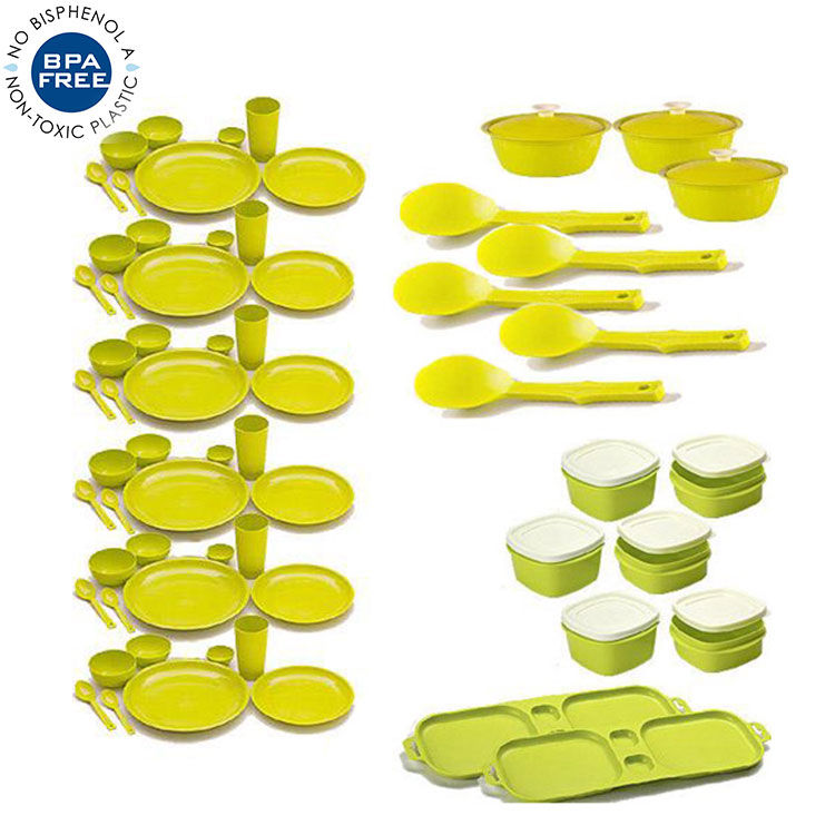 Buy Combo of Cutting Edge 67 Pcs Complete Kitchen Set Air Tight.