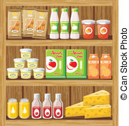 Supermarket shelf Clipart and Stock Illustrations. 2,126.
