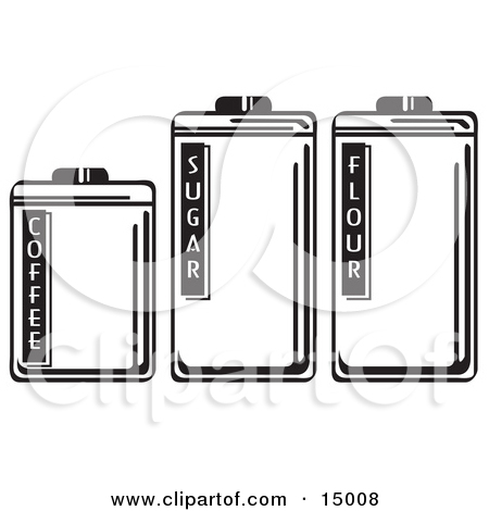 Three Storage Canisters In A Kitchen, Holding Coffee, Sugar And.