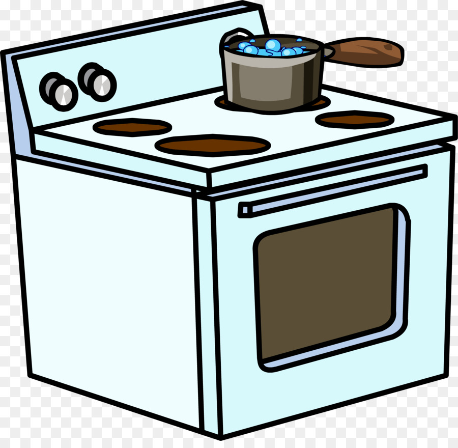 Cooking On Stove Clipart.