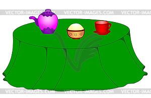 Round Dining Table Clip Art.