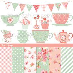 Kitchen Tea Clipart Combo.