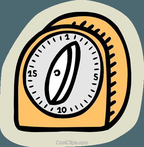 kitchen timer Royalty Free Vector Clip Art illustration.
