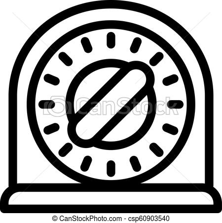 Kitchen timer icon, outline style.