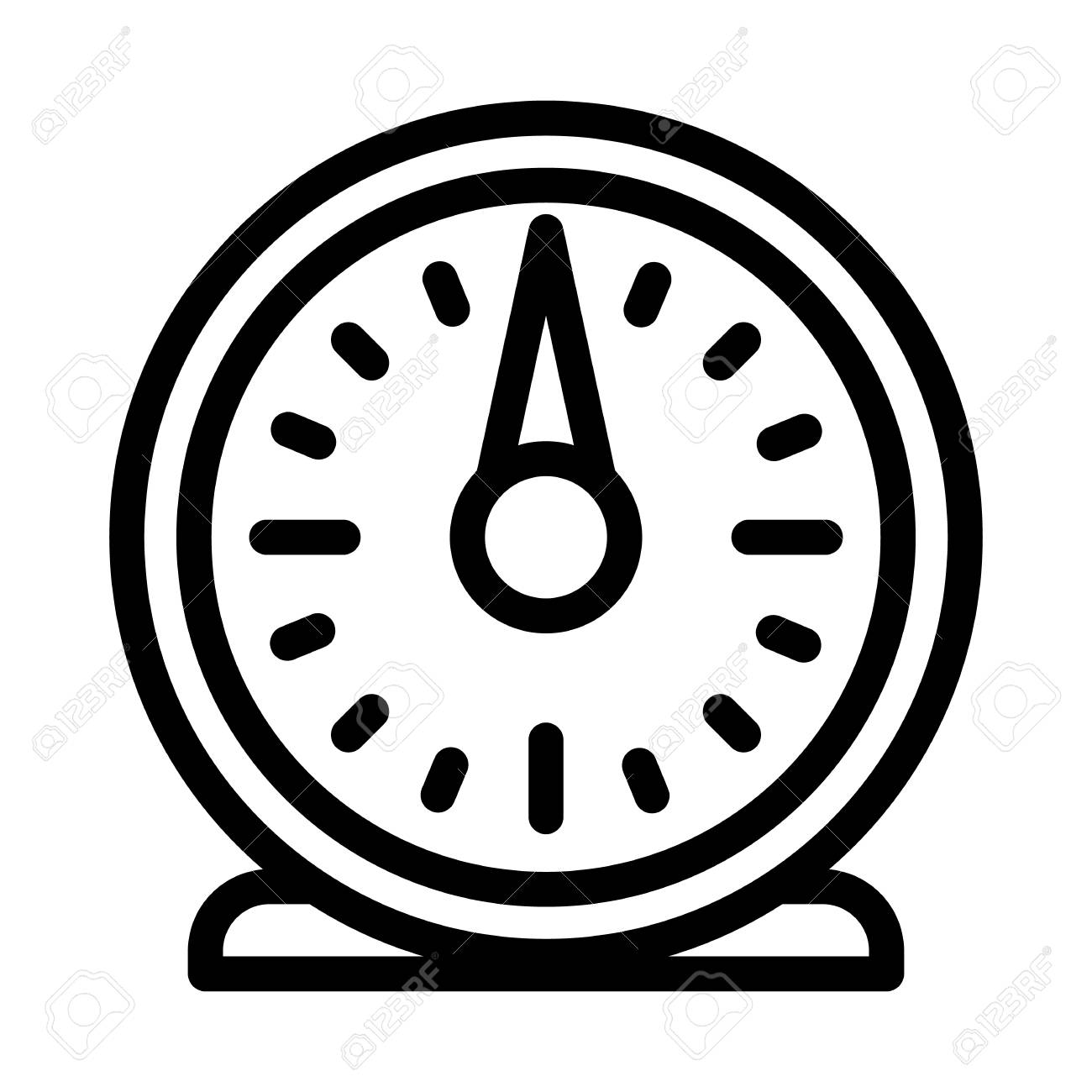 Retro kitchen timer icon. Outline retro kitchen timer vector...