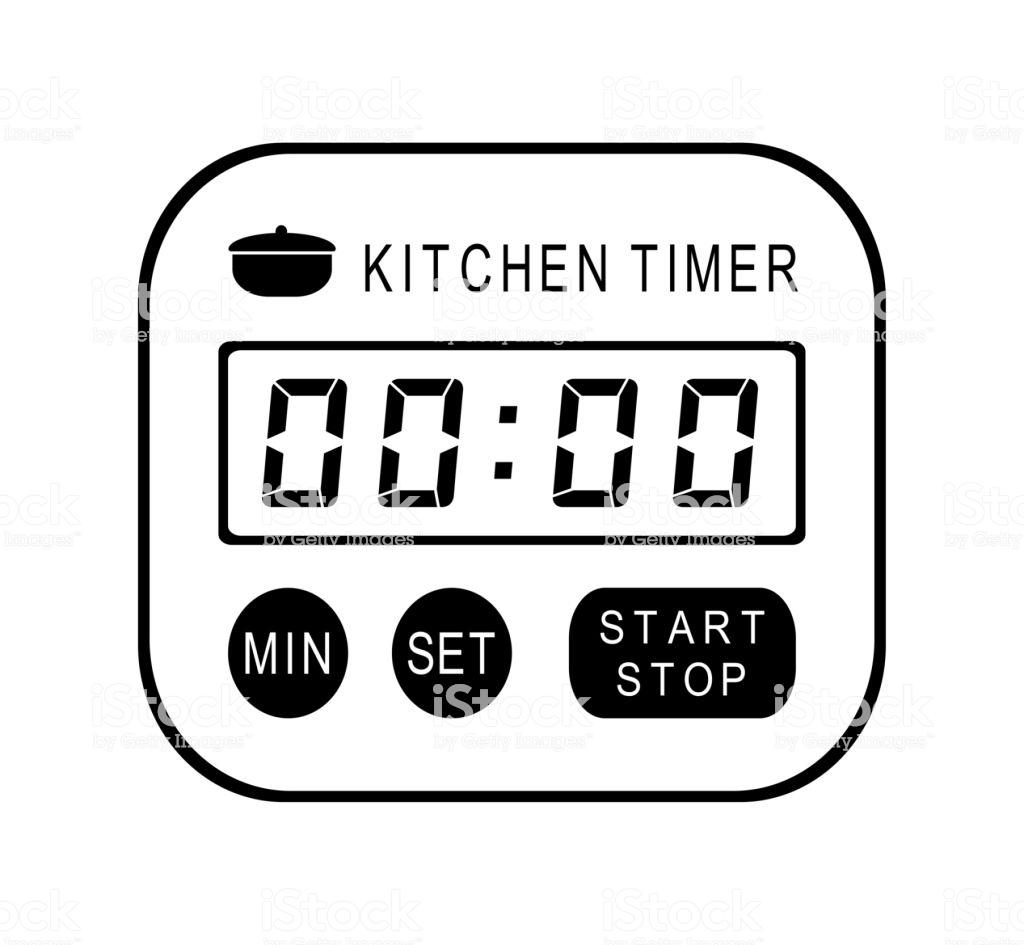 Kitchen Timer Stock Illustration.