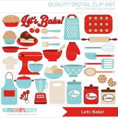 Free hand drawn kitchen tool clipart.