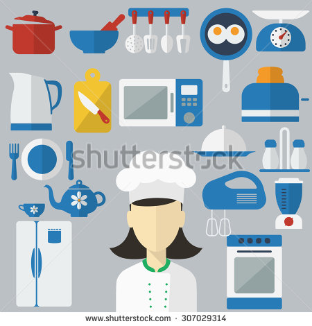 Kitchen Equipment Stock Images, Royalty.