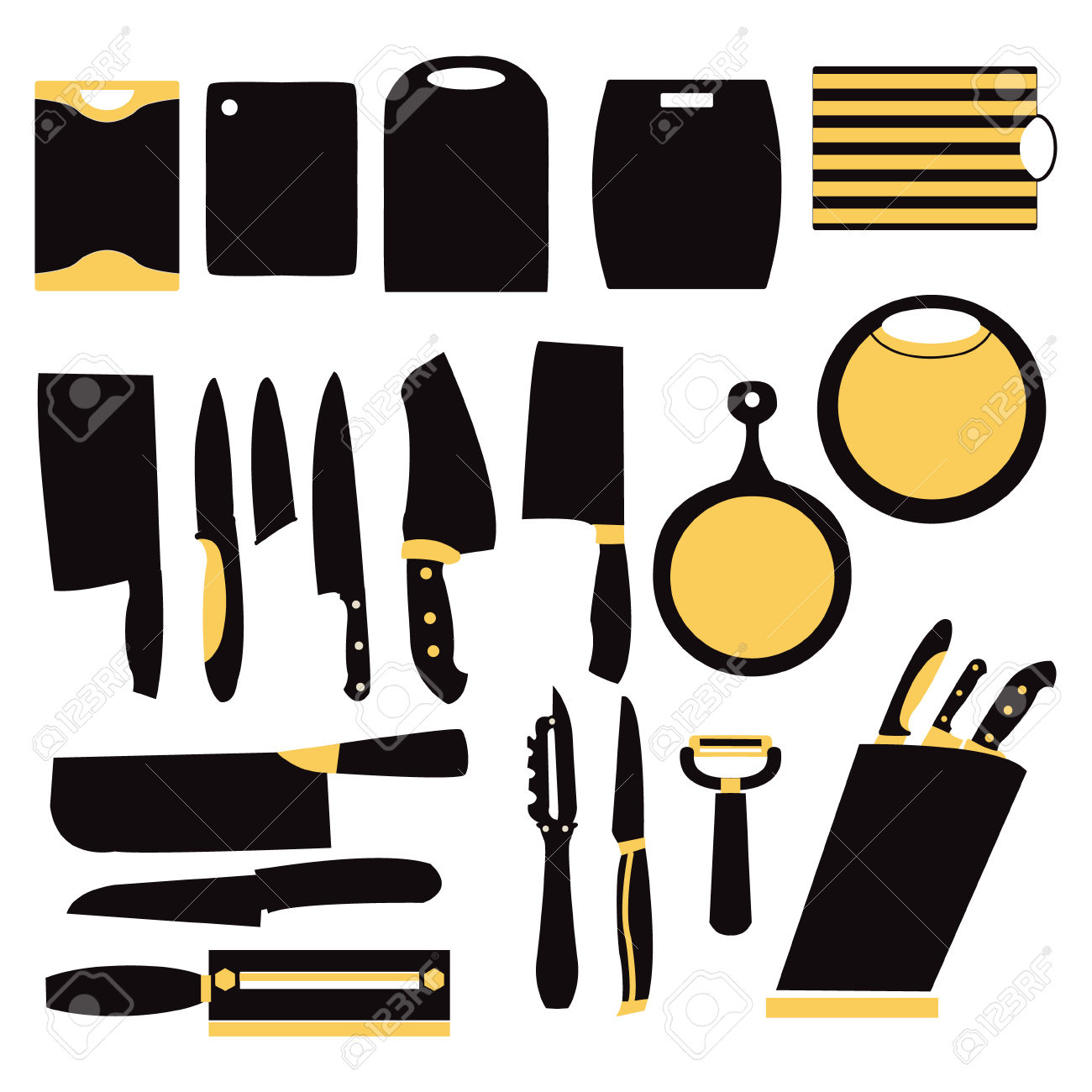 614 Commercial Kitchen Equipment Stock Vector Illustration And.