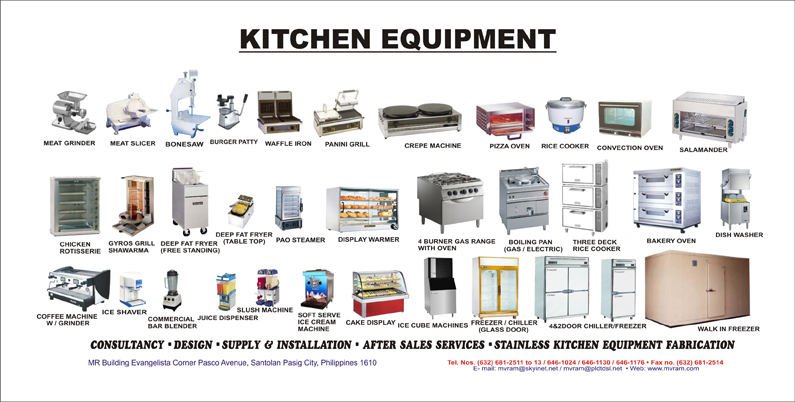 Kitchen Products Clip Art.