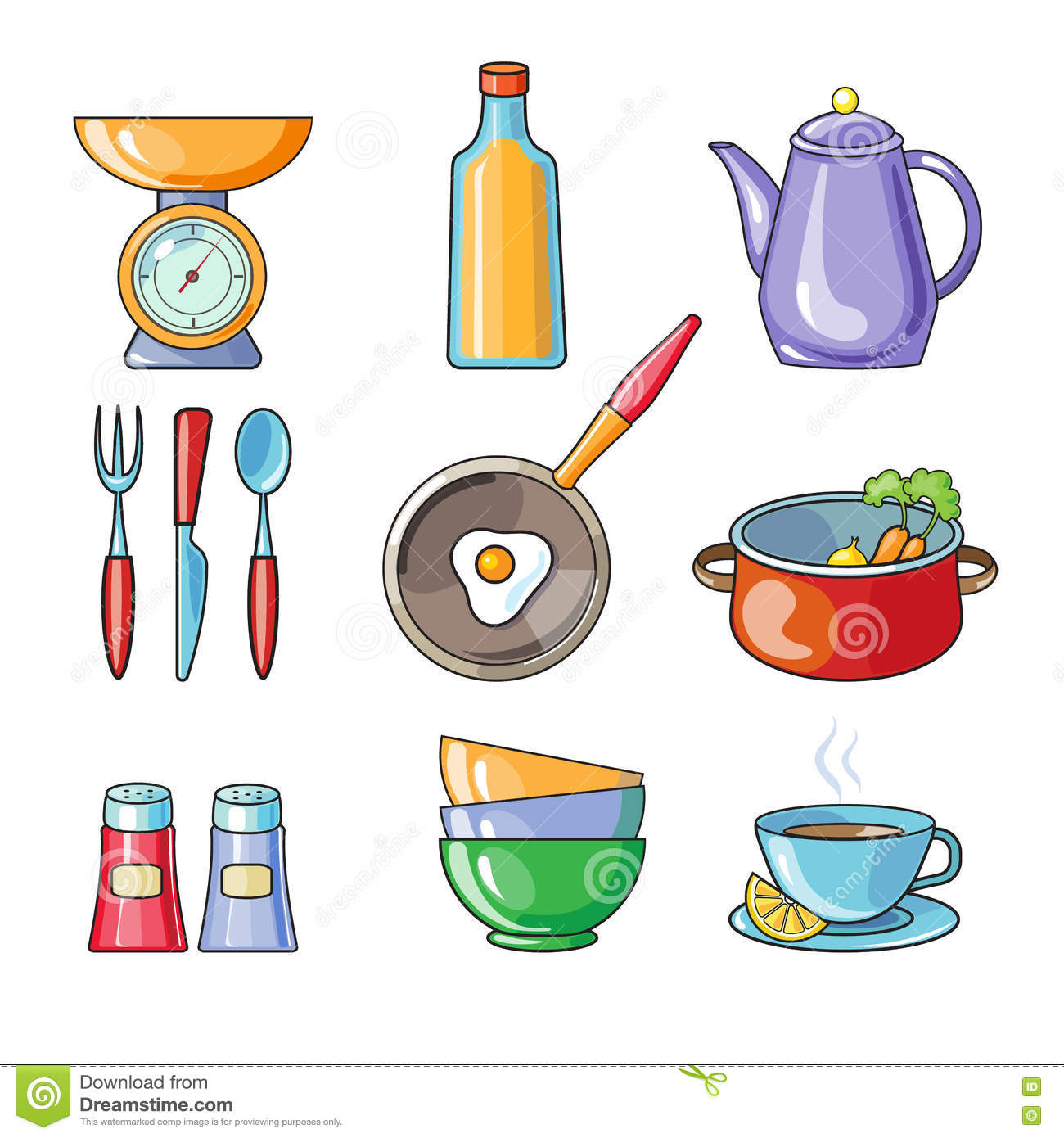 Kitchen Equipment Clip Art ~ Kitchen tools and equipment clipart clipground