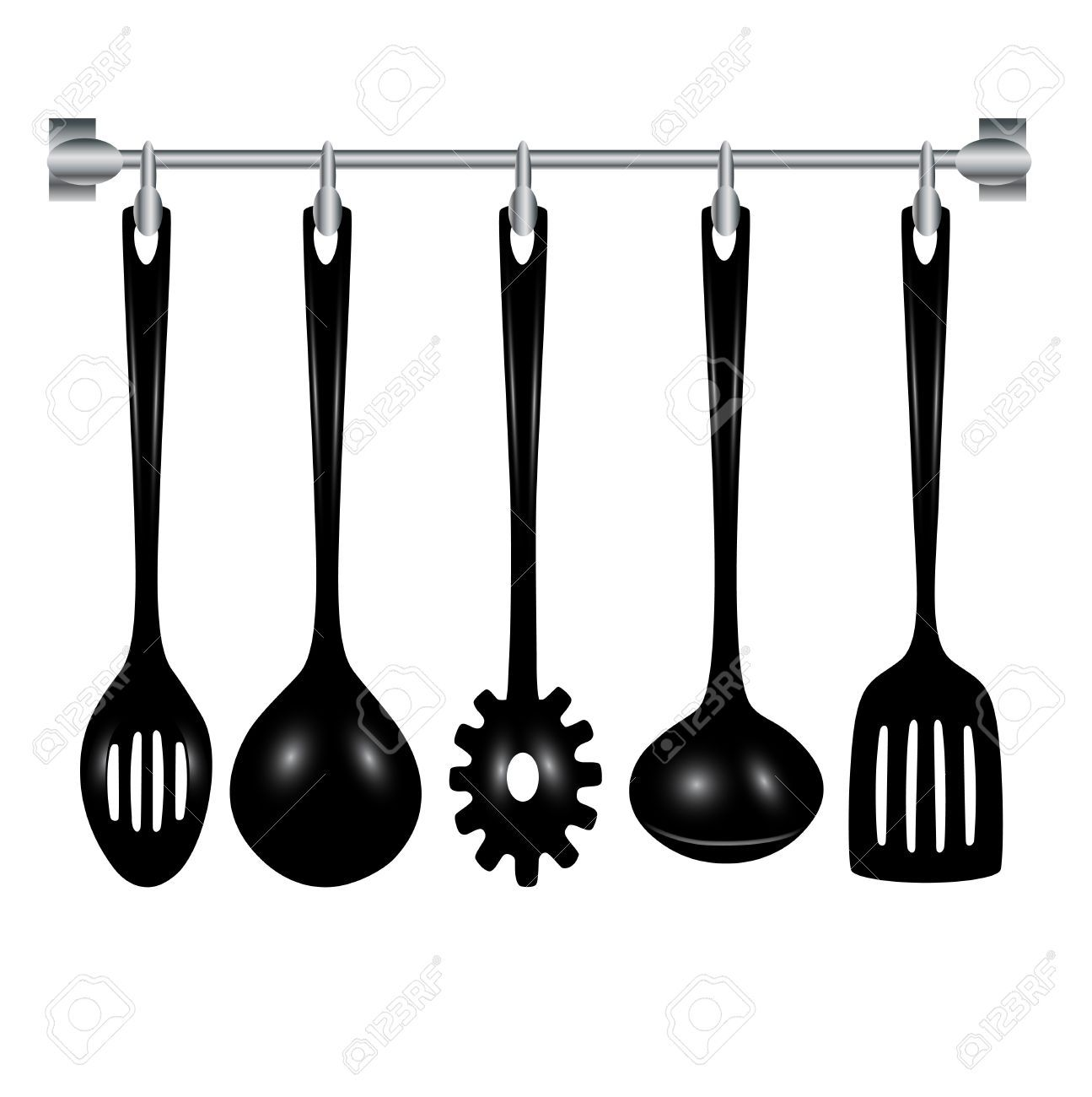 Kitchen utensils clipart black and white 4 » Clipart Portal.