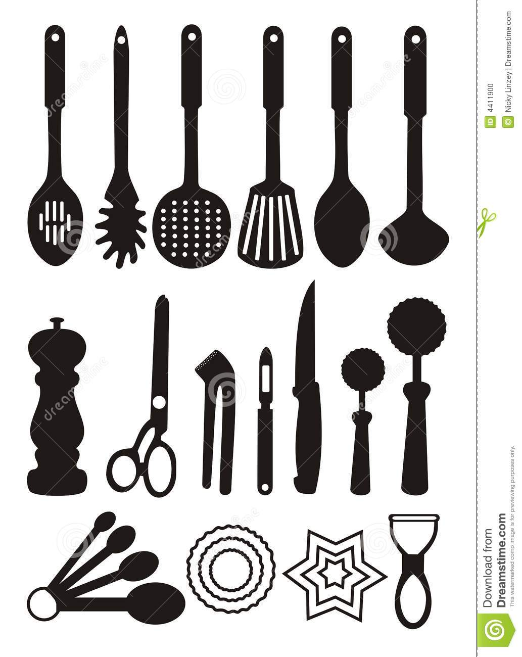 Cooking Utensils Clipart Free.