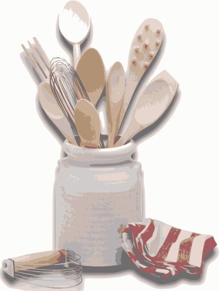 Kitchen Tools Utensils clip art Free vector in Open office.