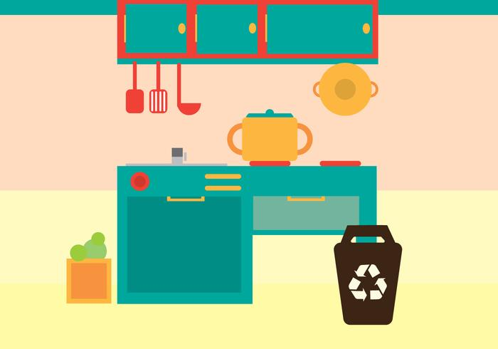 Free Kitchen Vector Illustration.