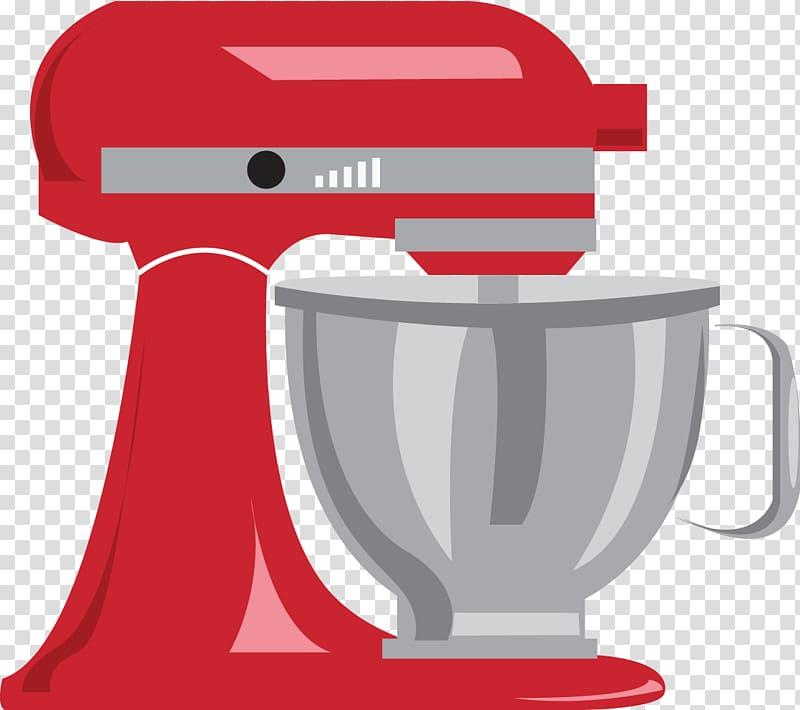 Red and black stand mixer , Mixer KitchenAid , Mixer.