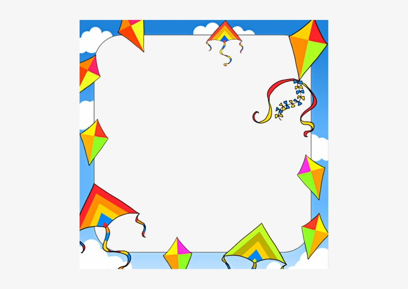 Kite Border Clip Art Transparent PNG.