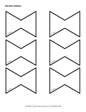 kite tail pattern.