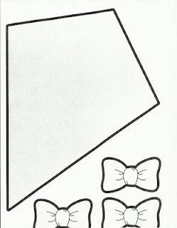 kite template with bows.