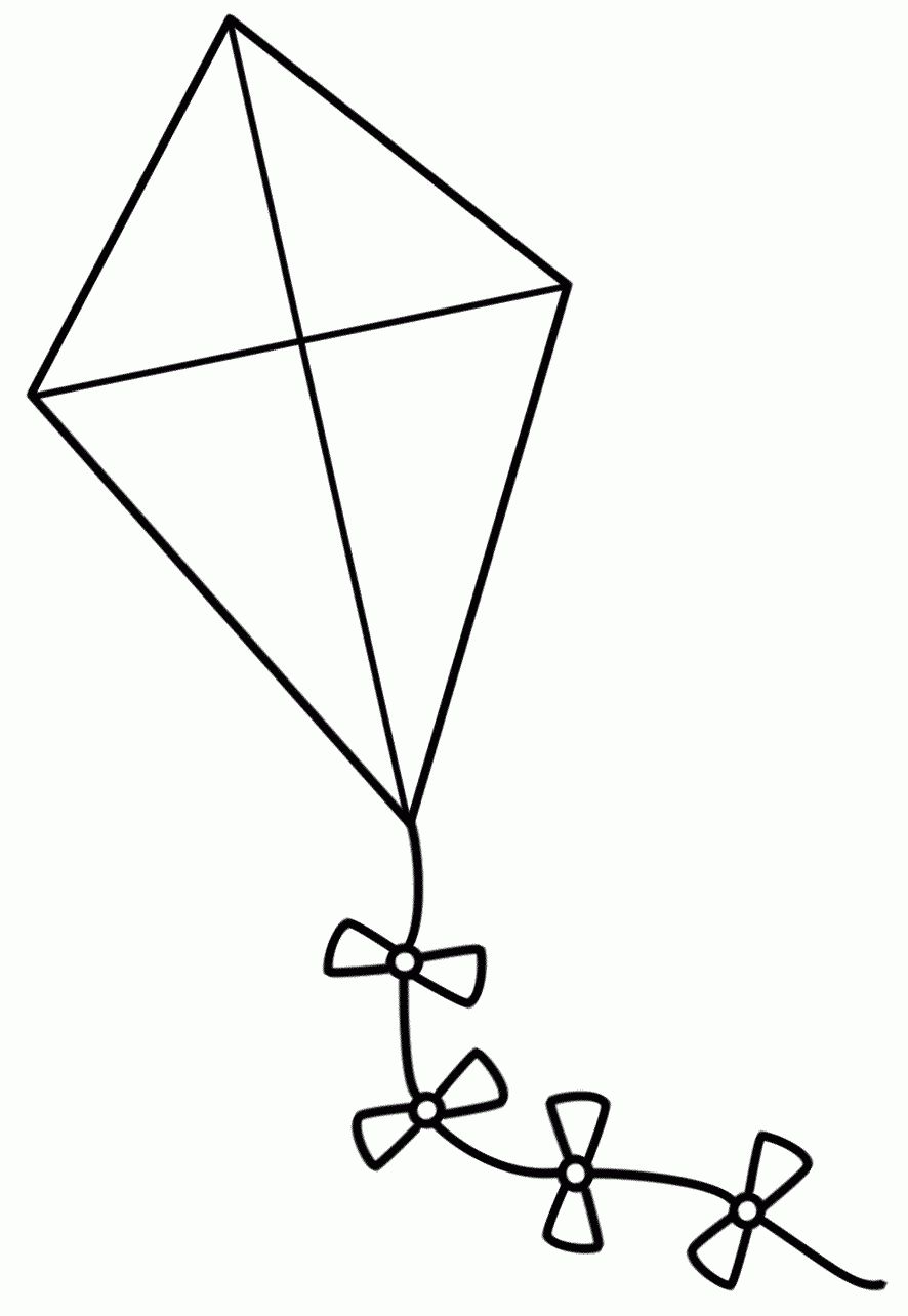 Kite Clipart Black And White Free.