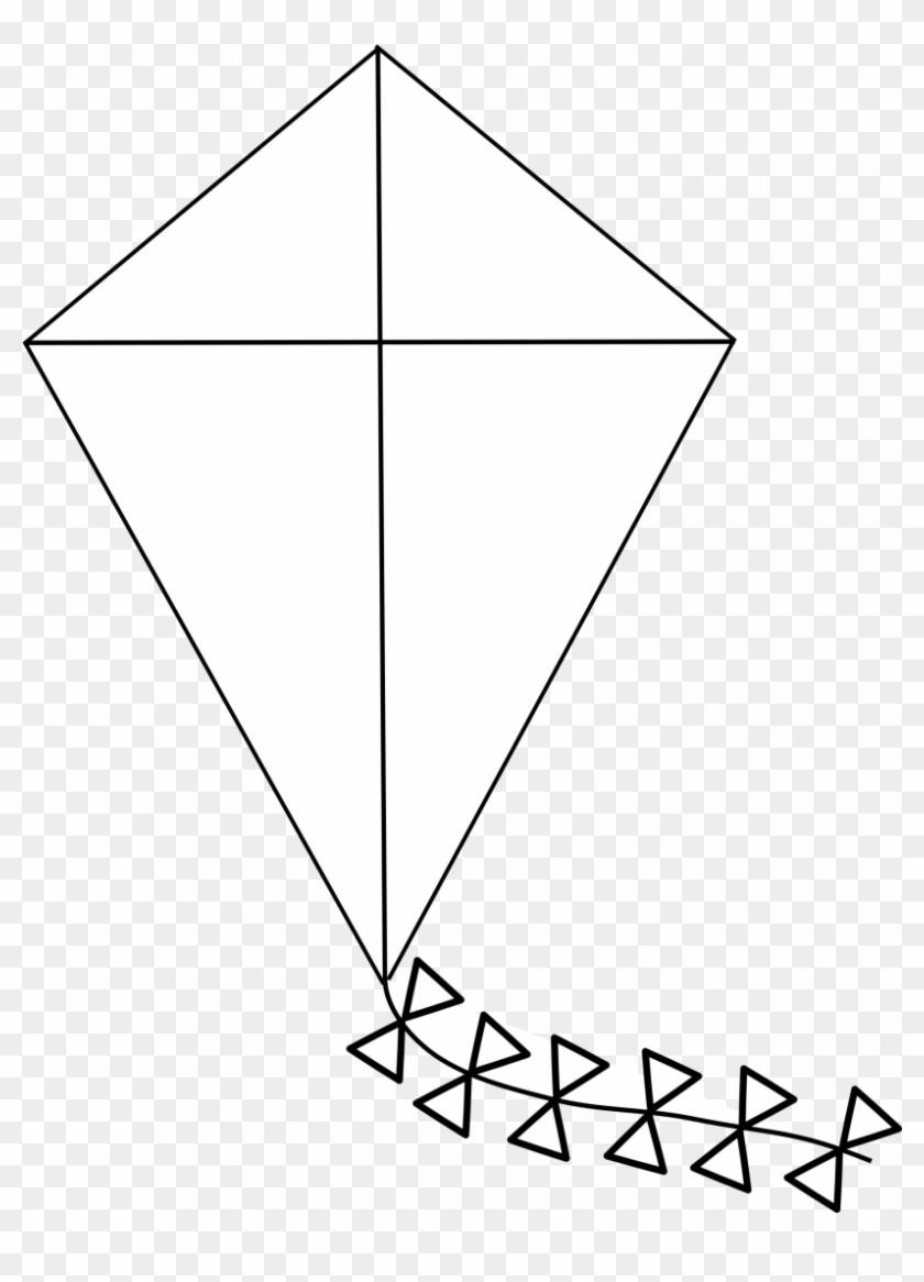 Outline Of A Kite, HD Png Download.