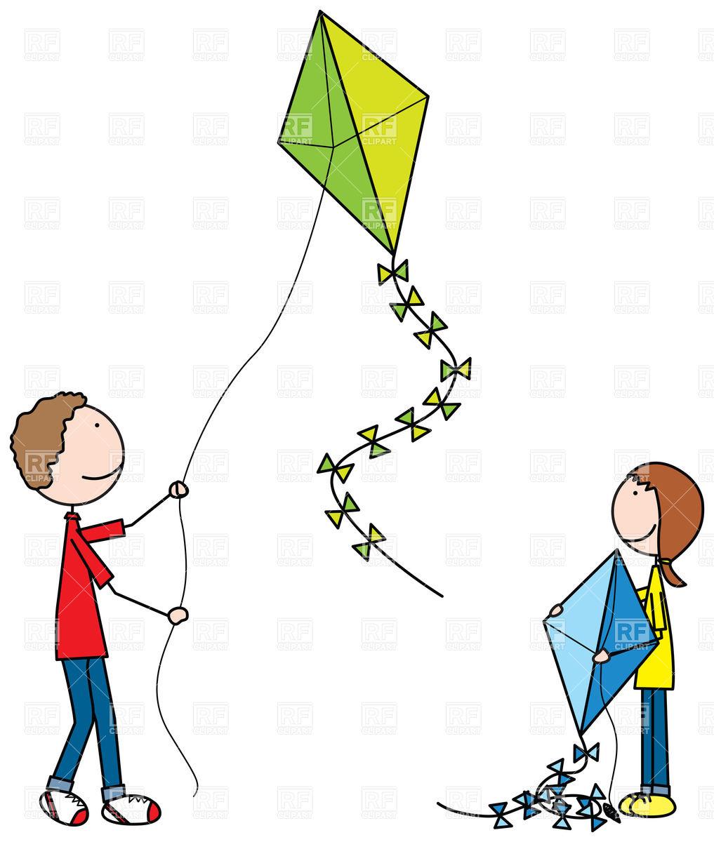 Kiteflying kids.