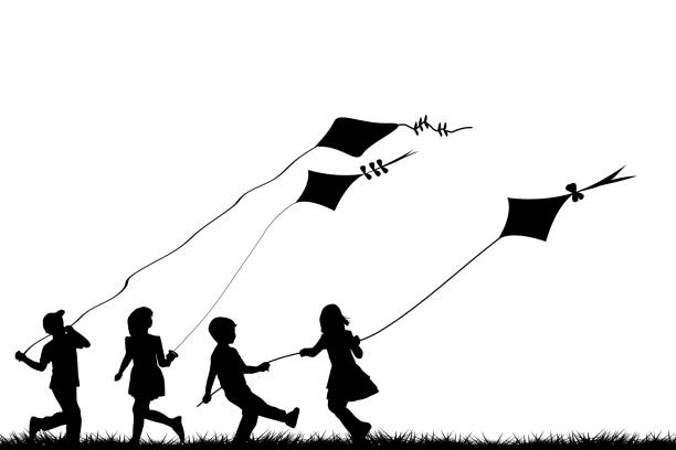 Best Kite Flying Illustrations, Royalty.